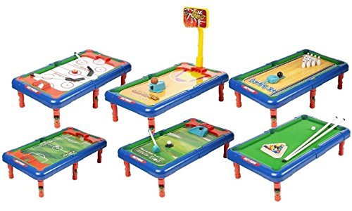 Emob 6 In 1 Action Table Outdoor Indoor Sports Toys With Multiple