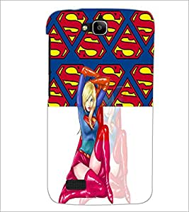 PrintDhaba Superwoman D-4472 Back Case Cover for HUAWEI HONOR HOLLY (Multi-Coloured)