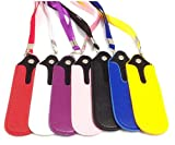 1X PU Leather Eco-E Cigarette Hookah Pouch or Pen Drive Holder Case with Lanyard (Black)
