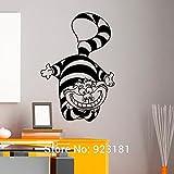 Alice nel Paese delle Meraviglie Stregatto Wall Art sticker adesivo home diy parete decorazione murale camera da letto estraibile arredamento figurine 82x57cm