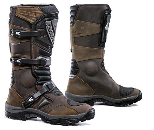 Forma Stivali Moto Adventure WP Omologata CE, Marrone, 43