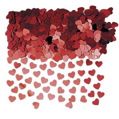 Amscan - coriandoli decorativi a forma di cuoricini (taglia unica) (rosso)