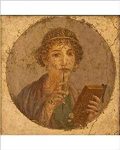 Photographie de Portrait, d'une jeune fille, Sappho du Musée archéologique Pompeii National