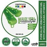 Organix Mantra Pure Aloe Vera Nourish Gel for Skin/Hair with Argan, Jojoba Oil