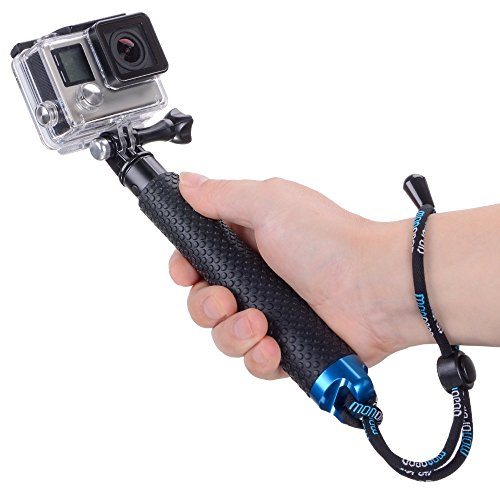 """Racksoy Professionell Wasserdicht (19cm-49cm im Taschenformat) Handheld-Teleskopstange Erweiterbar Self-Portrait Pole Ausziehbar Selfiestick Selfie Stange mit Gummi Handgriff für Gopro Hero 5, 4, 3/3+, 2, 1, Hero Session Actionkameras, GeekPro, akaso ek5000 ek7000, SJCAM, SJ4000, SJ5000, SJ6000 usw.(7""""-19"""")"""