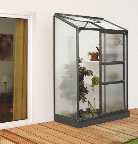 Vitavia Anlehngewächshaus Ida 900 HKP 4 mm 0,90 m², schwarz