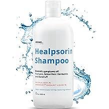 Healpsorin shampoo per psoriasi 500ml con 2% acido salicilico & 1% Dermo Soft® Decalact, Trattamento terapeutico di Healpsorin per la prevenzione di ripetuto prurito del cuoio capelluto e forfora, che sono spesso connessi con psoriasi, dermatite seborroica e desquamazione.