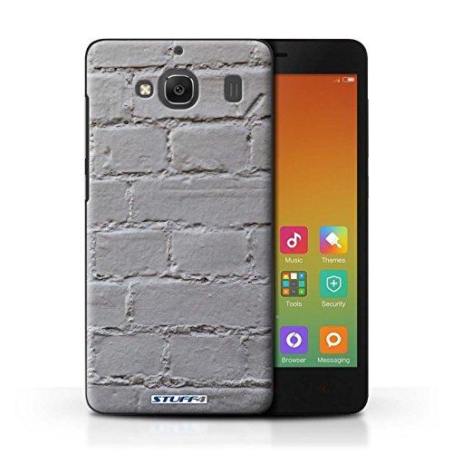 Custodia/Cover Rigide/Prottetiva STUFF4 stampata con il disegno Muratura per Xiaomi Redmi 2 Prime - Verniciato/grigio