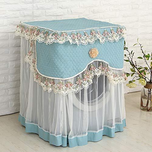 Copertura lavatrice, copertura di lavaggio con pizzo coprilavatrice universale, per le lavatrici con aperture anteriori per interno e esterno,taglia 60×60×85cm- garanzia 2 anni (blu, 60cm*60cm*85cm)