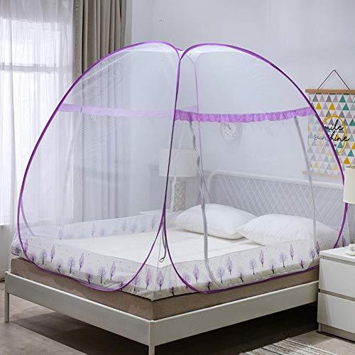 ür Queensize-bett,folding Baldachin,bett Zelt Mit Boden Für Zuhause Reise Camping,portable Anti-moskito-c Twinch2 ()