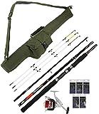 G8DS® Hochsee-Angel-Set: G8DS® Angelrute + G8DS® Rutentasche + 5 verschiedene G8DS® Paternoster + G8DS® Angelrolle Ausrüstung Meeresangeln