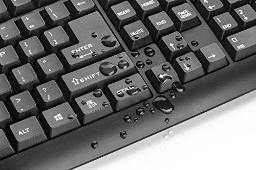 Trust ClassicLine Tastatur (spritzwassergeschützt, leiser Tastenanschlag, USB, QWERTZ, deutsches Tastaturlayout) schwarz - 3