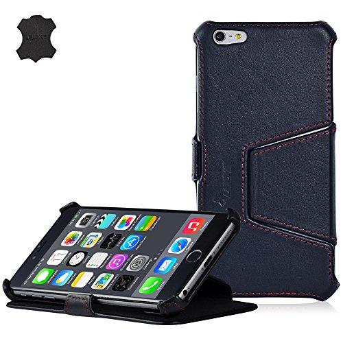 MANNA UltraSlim Hülle für iPhone 6S und 6 Plus mit 5,5 Zoll | Aufstellbares Case | Tasche aus Nappaleder