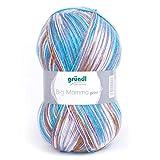 Gründl Wolle, Flieder-blau-braun Multicolor