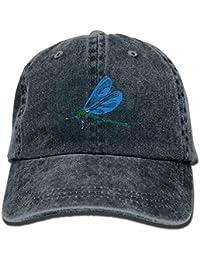 Miedhki Flying Dragonfly Unisex Washed Adjustable Vintage Cowboy Hat Denim  Baseball Ningunos Multicolor97 69210da35f2f