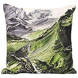 "Riva Paoletti ""Everest Fundas de cojín, Verde, 45x 45cm"