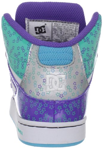 DC Rebound-d0302676b, Jungen Sportschuhe - Skateboarding Blanc/argenté (White/M Silver)