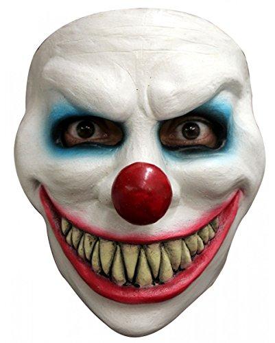 lown Maske | Halbmaske für Erwachsene (Clowns Maske)