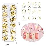 Pure Vie 240 PZ 3D Nail Arte Glitter Brillante Gemme di Strass Ornamenti di Metallo Galvanico Decorazione d'Unghie Borchie Manicure a Modelli Diversi #1