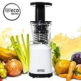 Cecotec Centrifuga per Frutta e verdura in pressato a freddo, Estrattore di siringa, 45rpm, Tappo salvagoccia, BPA Free, nuovo modello. cecojuicer Compact