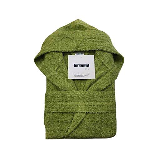 Bassetti - accappatoio con cappuccio in spugna di puro cotone bassetti time, vari colori, unisex-germoglio-l