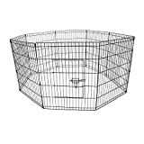 Oypla Medium Folding Pet Dog Rabbit Run Play Pen Cage Enclosure Fence