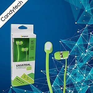 Candytech Universal Stereo Earphones (Green)