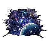 Deanyi 3D Sternenhimmel Wand Aufkleber 3D Boden Aufkleber Raum Wandtattoo entfernbarer Aufkleber Vinylkunst DIY Murals Wohnzimmer Dekors Blue Home dekor