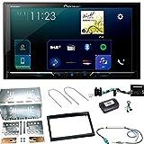 Pioneer SPH-DA230DAB Autoradio CarPlay Android Auto Bluetooth USB Digitalradio DAB+ Einbauset für Peugeot 207 307 Partner Expert