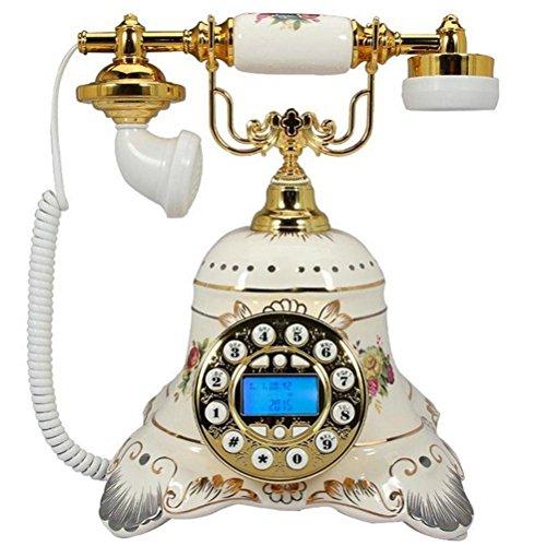 telephone-retro-en-ceramique-blanche-machine-de-base-antique-continental-paradise-appel-creatif-a-do