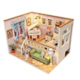 MagiDeal Casa de Muñecas en Miniatura Estilo DIY Japonés con Luz LED - 3