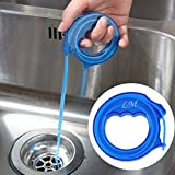 Gugutogo Drain Sink Cleaner Bathroom Unclog Sink Tub Toilet Snake Brush Depilazione