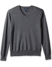 Buttoned Down Supima Cotton V-Neck Sweater