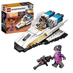 LEGO - Overwatch Tracer vs. Widowmaker Set de construcción con Nave de Juguete inspirado en el Videojuego, Novedad 2019 (75970)