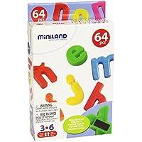 Miniland - Letras magnéticas minúsculas, 64 piezas (97926)