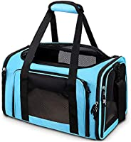 Comsmart Cat Carrier, Pet Carrier Airline Approved Pet Carrier Bag Collapsible 15 Lbs Dog Carrier for Small Me