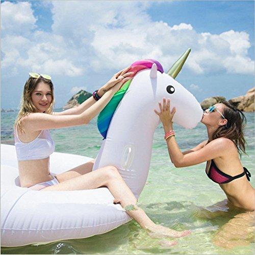 Aufblasbares Einhorn schwimmt Swimmingpool-Strand-Spielzeug für Erwachsene und Kinder (L 275 * 140 * 120cm)