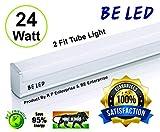 BE led 24-watt and 2500 Lumins High Luminance LED Tube Light, 2ft
