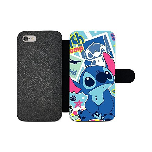 gspstore iPhone 6/iPhone 6S Geldbörse Fall, Lilo & Stitch Disney Cartoon Pattern Flip PU Leder Wallet Fall mit Kartentaschen für iPhone 6/iPhone 6S, Color 5