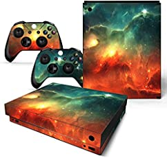 Elton Space Galaxy 3M Skin Decal Sticker For X Box One X Console & Two Controllers