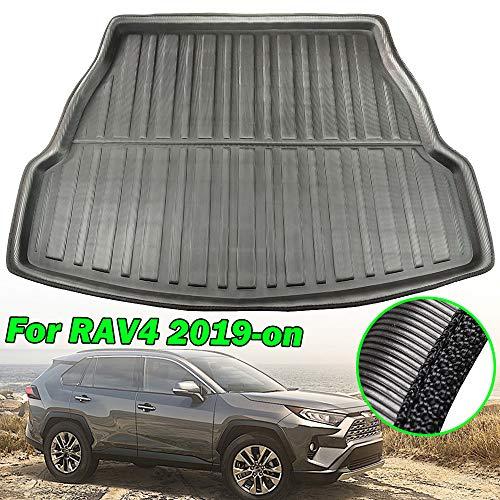 XUKEY Kofferraummatte für RAV4 XA50 2019 2020 Kofferraumwanne Teppich Kick Guard Abdeckung Schutz Dekoration Autozubehör