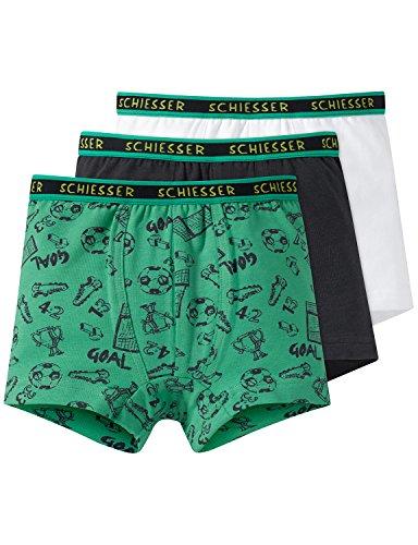 Schiesser Jungen Boxershorts Multipack 3pack Hip Shorts 3er Pack, Mehrfarbig (Sortiert 1 901), 140 (Shorts 1 Und Jungen)