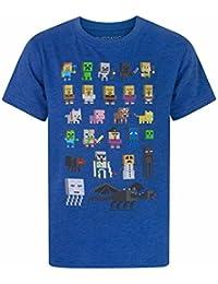 Minecraft Sprites Boy–Camiseta de manga corta para mujer
