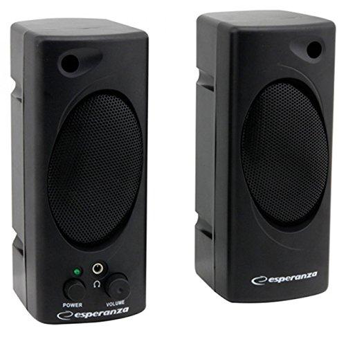 Esperanza TEMPO Multimedia Stereo PC Lautsprecher Computer Boxen mit AUX-Eingang und Volume Control Multimedia-volume-control