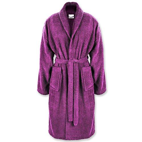 Gräfenstayn Damen & Herren Bademantel S-XXXL 100% Baumwolle in verschiedenen Farben mit Öko-Tex Siegel Standard 100: