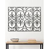 Safavieh 3 piezas Diseño con forma de disco decorativa de pared con forma de hierro forjado