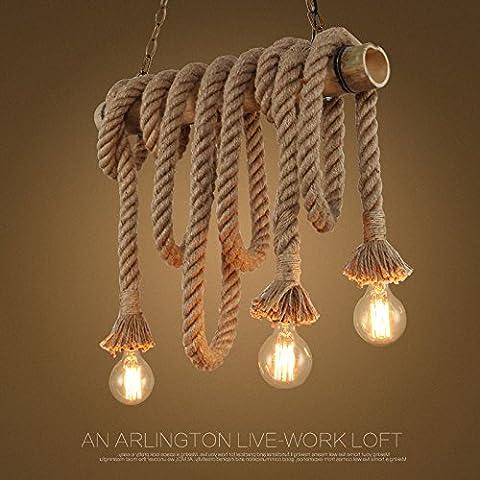 Le luci pendenti spago Sisal in Europa creativa di lampadari lampadari stile Liberty Bamboo Restaurant e Bar-caffetteria lampadari Deco
