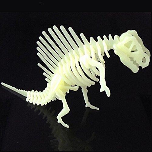 FIXIR dinosaures 3D Stereo puzzle enfants lumineuses la décoration de chambre de jouets