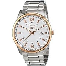 Para hombre reloj Cerruti plateado CRA103STR04MS