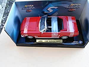 Ford Mustang Cabriolet, rot, offen , 1964, Modellauto, Fertigmodell, Welly 1:18